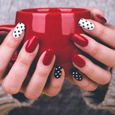 Resultado de imagen para uñas decoradas rojas
