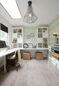 Bright, colorful workspace, skylight   Jillian Harris