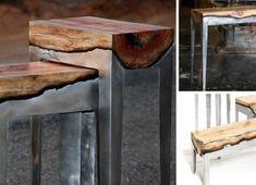 drevo + hlinik /Al) Trunk Furniture, Modular Furniture, Metal Furniture, Furniture Making, Kitchen Furniture, White Furniture, Automotive Furniture, Automotive Decor, Furniture Showroom