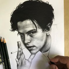 Portrait of cole sprouse made by robin amar from france (📷 robin_amar) Tumblr Wallpaper, Emojis Wallpaper, Wallpaper Hearts, Portrait Sketches, Pencil Portrait, Portrait Art, Art Sketches, Cole Sprouse Lockscreen, Cole Sprouse Wallpaper