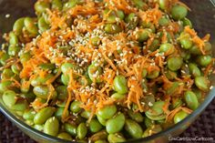 Sesame edamame salad. Looks good and is good for you!