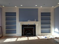 bookshelf fireplace | ... fireplace design and builted by me, bookcase and fireplace, Living