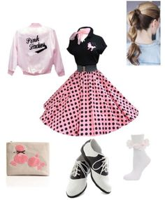 Require an eye-catching outfit this Halloween season? Get hold of one of these Halloween outfits for It is possible to look very good without having paying out lots of money on some Halloween outfits for Halloween Costume Party/ Cutie. Grease Outfits, Grease Costumes, 50s Outfits, Pink Outfits, Fall Outfits, Sock Hop Outfits, 50s Halloween Costumes, Halloween Party Kostüm, Halloween Outfits