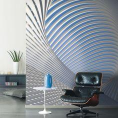 Fotomural-de-papel-pintado-Casadeco-colección-So-Wall-2-SWL27099216 loops geométrico abstracto plata azul