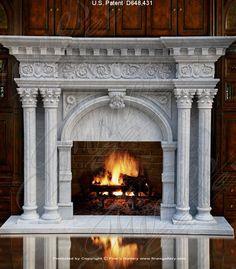 . Marble Fireplaces, Romanesque, Fireplace Design, Design Inspiration, Architecture, Interiors, Home Decor, Arquitetura, Decoration Home