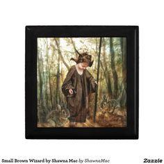 Small Brown Wizard by Shawna Mac Keepsake Box