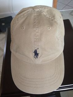 Polo Ralph Lauren Signature Pony Hat Tan Khaki NWOT