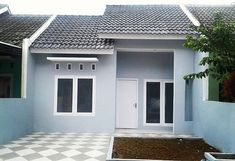 Warna Cat Rumah Yang Bagus Menurut Islam Exterior House Lights, Exterior Paint Colors For House, Minimalis House Design, House Paint Color Combination, Ranch Remodel, Small House Design, Country House Plans, House Entrance, Facade House