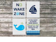 Nautical Nursery Art Printable Set by ElsyPaper on Etsy