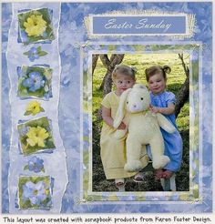 Easter Scrapbook Layout