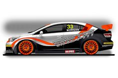 This is the first image of the livery that Ginetta GT Supercup graduate Adam Morgan will compete with on his Toyota Avensis, run by Speedworks Motorsport for the 2012 British Touring Car Championship season.