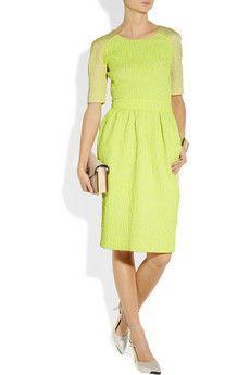 Sara Neon Leopard-Jacquard Dress. Preen@net-a-porter