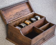 Men's Valet Watch Case Men's Watch Box Valet Box Watch by dferichs