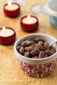 Cocoa Dusted Almonds ||  coconut oil, unsweetened cocoa powder, confectioners sugar