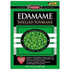 edamame - One of my favorite protein packed vegan foods! I love snacking on these or even cooking them into a meal!