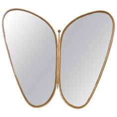 Hammered Butterfly Mirror by Josef Frank, circa 1950 | From a unique collection of antique and modern wall mirrors at https://www.1stdibs.com/furniture/mirrors/wall-mirrors/