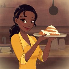 This fan art of Tiana really brings out her sweetness and diligence.