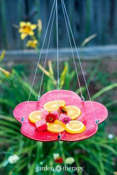 Make this! DIY beaded butterfly feeder instructions