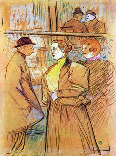 Henri de Toulouse Lautrec In the Moulin Rouge 1890