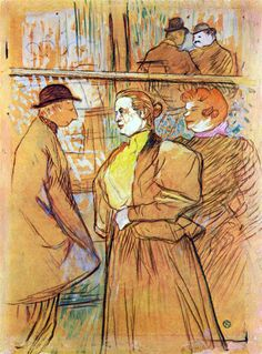 Henri de Toulouse Lautrec In the Moulin Rouge 1890