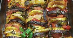 Λαχανικά Τουρλού με γαλλική φινέτσα Ratatouille, Eggplant Recipes, Vegetable Pizza, Healthy Recipes, Vegetables, Ethnic Recipes, Food, Kitchens, Essen