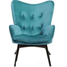 Πολυθρόνα Vicky Velvet Petrol  Η γνωστή πλέον πολυθρόνα διατίθεται σε καινούργια χρώματα και υφάσματα.   €395 Kare Design, Blue Green, Accent Chairs, Armchair, Rest, Velvet, Model, Furniture, Color