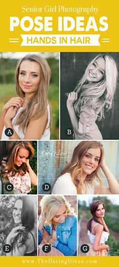 Senior Girl Photography Pose Ideas - Hand in Hair