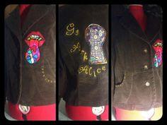 Alice In Wonderland Trippy Corduroy Jacket by DeadHeadSpace, $40.00