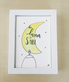 """Dibujo original """"La luna lo sabe"""""""