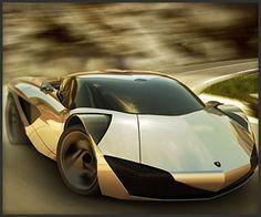 Lamborghini Minotauro Concept. A GOLD car. BRAIN FUCK!
