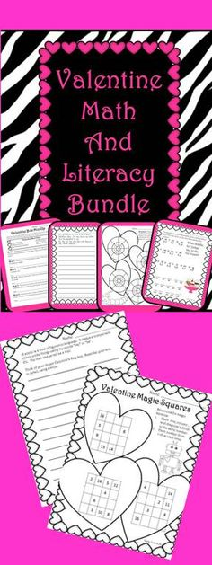 Fantastic resource!  Math and Literacy for Valentine's Day!
