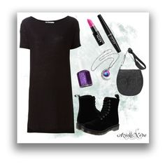 ~1~ by azielle-nova on Polyvore featuring polyvore fashion style T By Alexander Wang Dr. Martens Overland Sheepskin Co. NYX Essie clothing