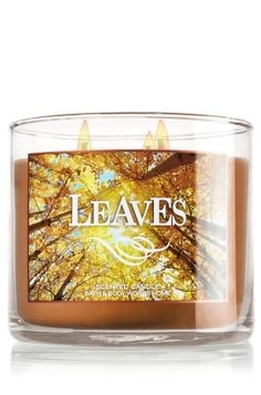 Leaves 3-Wick Candle - Slatkin & Co. - Bath & Body Works. So good!  This is one of my faves!