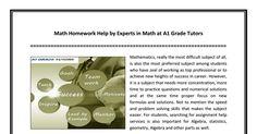 #Math #Homework #Help by Experts in Math at A1 Grade Tutors