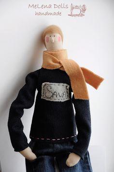 Melena Dolls by Elena Kolodko www.facebook.com/... Tilda Doll - Tildas - Handmade - Sewing