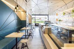 A triangular exploration – Biasol's Little Hugh cafe | Australian Design Review #Interior #Design #Hospitality #InteriorDesign #Cafe