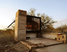 Weekend Cabin: Miner's Shelter, Taliesin West, Arizona