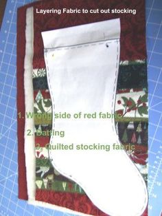 Directions for making Christmas stockings