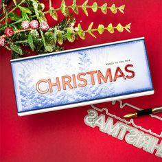 Slimline Christmas Cards + 3D Forest Border Embossing Folder Simon Says Stamp - Bibi Cameron