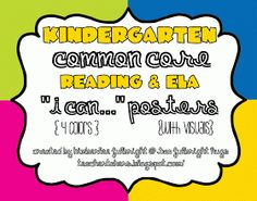 """iTeach 5th: COMMON CORE """"I can..."""" POSTERS!!!"""