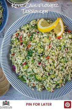 Easy Keto Cauliflower Tabbouleh - Culinary Lion