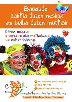 CHRYSALLIS Euskal Herria: Asociación de familias de menores transexuales http://chrysallis.org.es/chrysallis-euskal-herria/