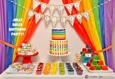 {PARTIES} rainbow jelly bean birthday party - Creative Juice