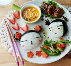 Pucca & Garu by Samantha Lee Bento Recipes, Baby Food Recipes, Bento Ideas, Lunch Ideas, Japanese Food Art, Japanese Sushi, Chinese Food, Cute Bento Boxes, Lunch Boxes