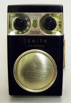 "Zenith Royal 500D ""Long Distance"" 8-Transistor AM Radio, Circa 1959, Black Plastic."