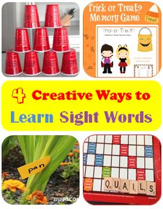 4 creative ways to learn sight words  #LearnActivities from @iGameMom
