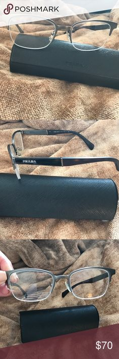 Prada eyeglasses There Prada glasses they have my prescription in very good condición I never use and they have there Prada case Prada Accessories Glasses