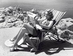 Marlene Dietrich at the Eden Roc Hotel, 1938