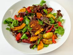 Gojee - Roasted Fall Vegetable Salad with Warm Goat Cheese & Honey Mustard Vinaigrette by The Luna Cafe