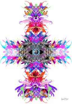 #germanmolinaart Virtual Art, Visionary Art, Psychedelic Art, Paper Art, Print Design, Dj, Art Gallery, German, Contemporary